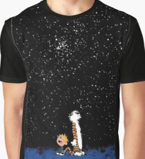 Calvin and Hobbes Night Graphic T-Shirt