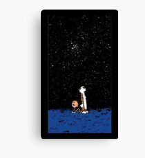 Calvin and Hobbes Night Canvas Print
