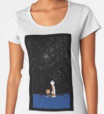 Calvin and Hobbes Night Women's Premium T-Shirt