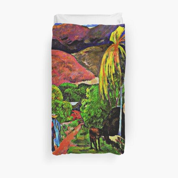 Gauguin - Route de Tahiti, célèbre tableau Housse de couette
