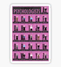 Psychologists Alphabet Sticker