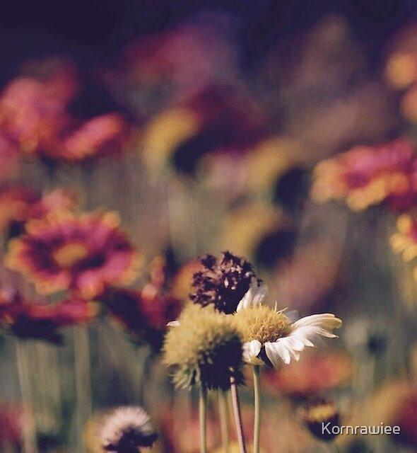 Romance jungle, flowers by Kornrawiee
