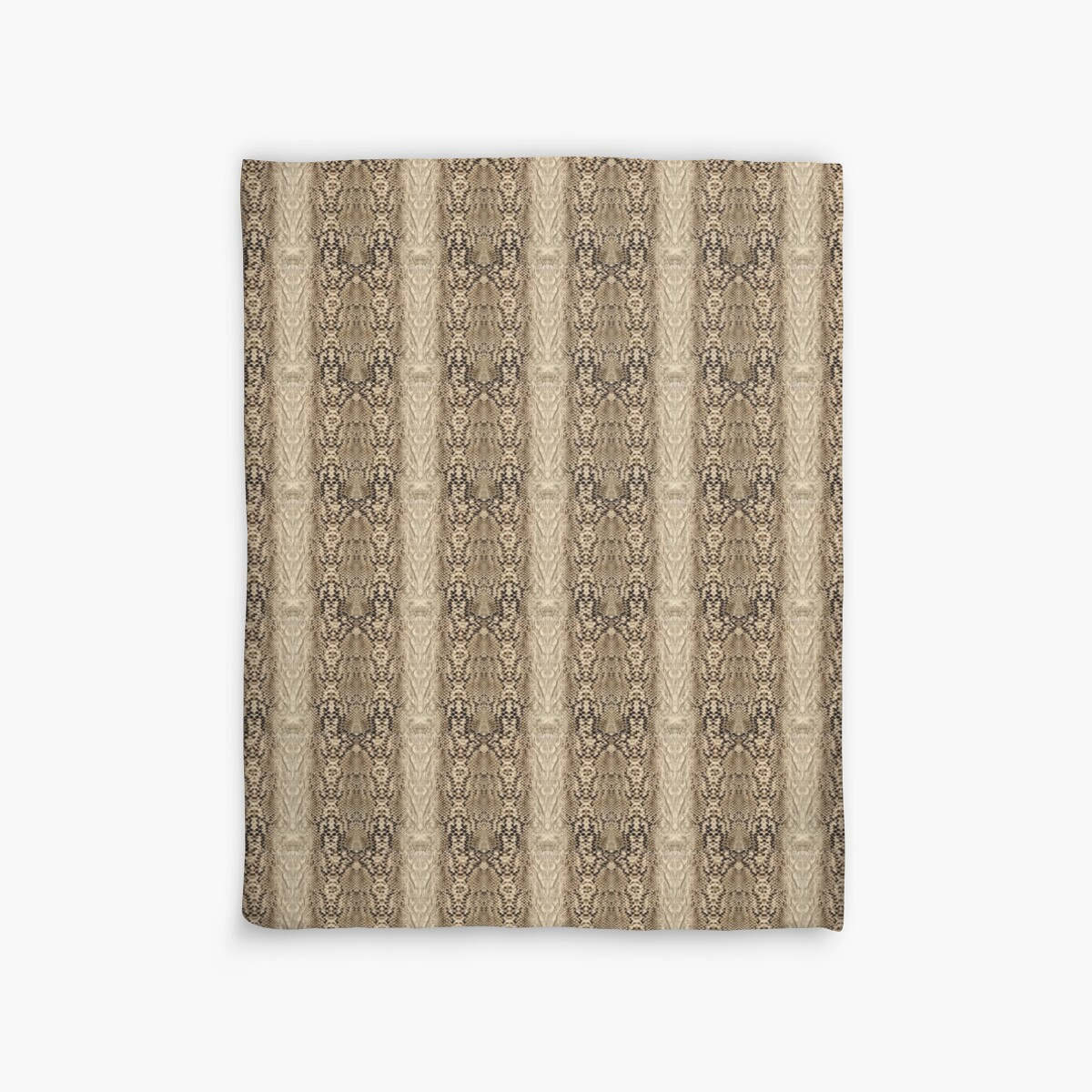 Quot Brown And Beige Faux Snake Skin Pattern Quot Duvet Covers By