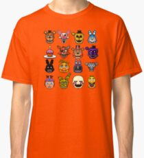 Five Nights at Freddy's - Pixel art - Multiple characters Classic T-Shirt