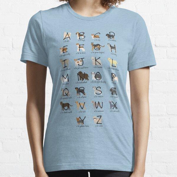 Dog Alphabet Shirt Essential T-Shirt