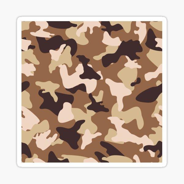 Desert camo sand camouflage army pattern Sticker