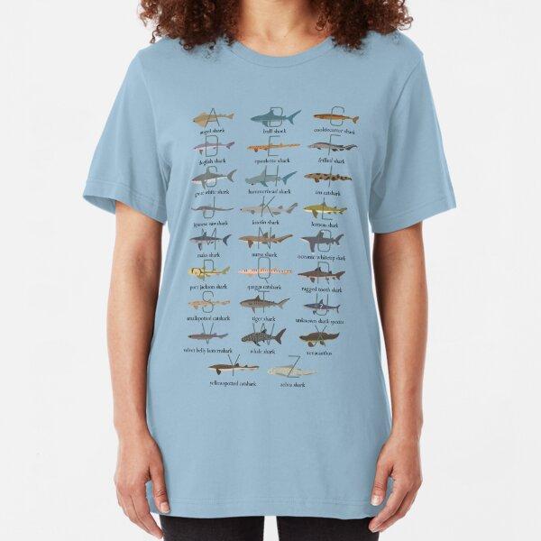 Sharks Alphabet Shirt Slim Fit T-Shirt