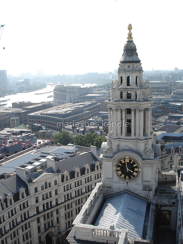 The clock tower from above by maria ines kandle