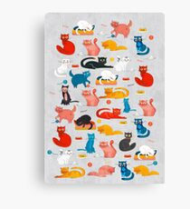 Playful Funny Cats Canvas Print