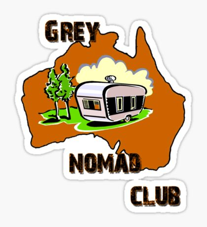 Grey Nomad Club Sticker