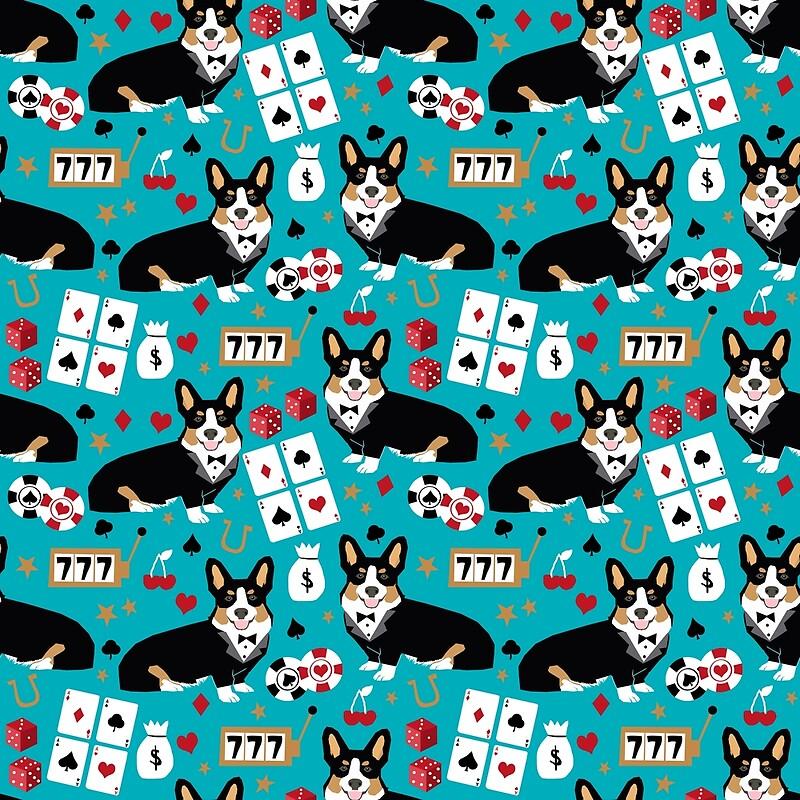 Welsh Corgi Tricolored Noche De Póker De Lujo Blackjack Casino