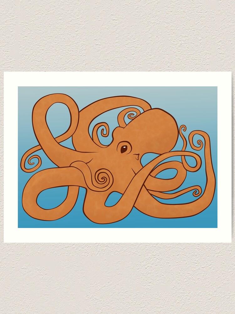 Alternate view of Octopoda (Orange & Blue) Art Print