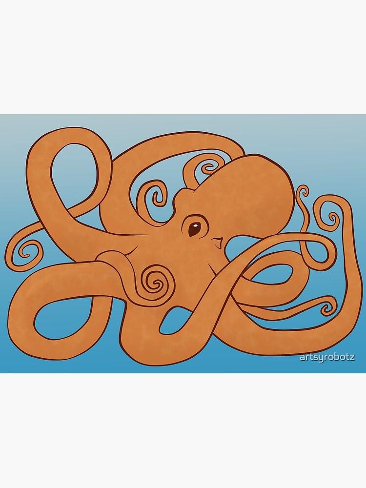 Octopoda (Orange & Blue) by artsyrobotz