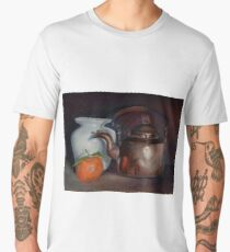 Still life with a copper kettle Men's Premium T-Shirt