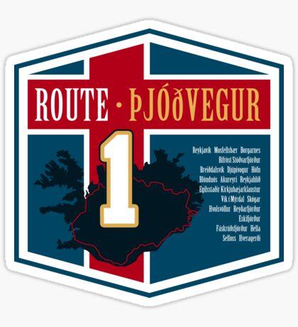 Route 1 - Iceland Design 2 Sticker