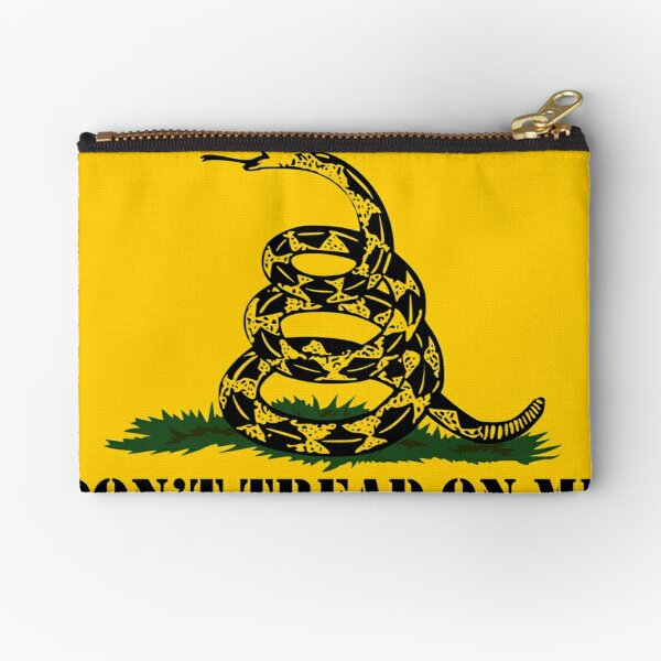 Republican Conservative Gifts - Gadsden Flag Don't Tread on Me Gift Ideas for Patriotic Right Wing American Republicans Zipper Pouch