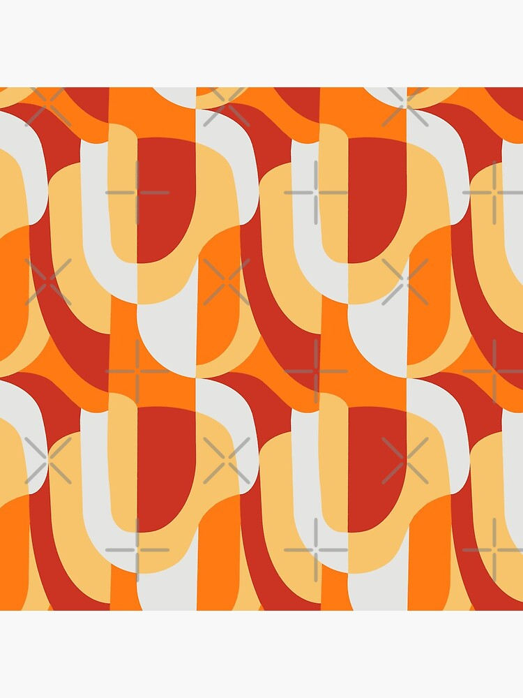 Orange Abstract Retro Pattern by coverinlove