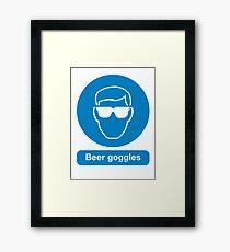 BEER GOGGLES Framed Print