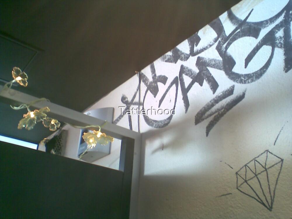 looking up in the rooftop market ladies changrooms (ie toilets) by Tatterhood