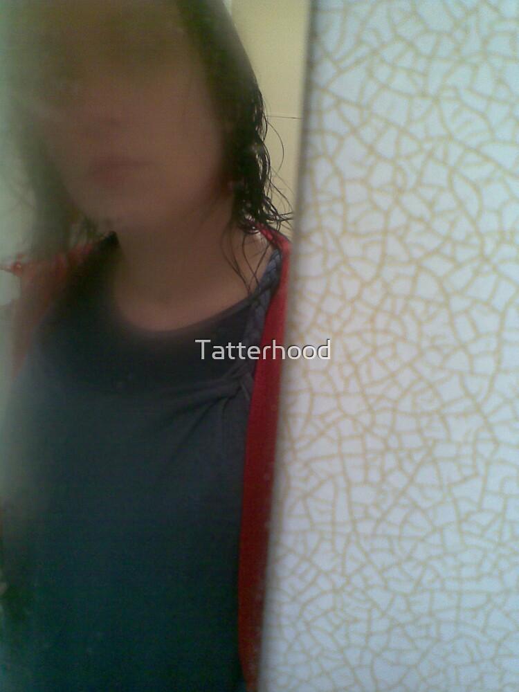 self portrait; looking in by Tatterhood