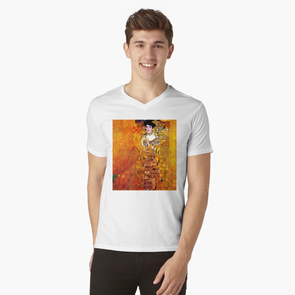DAME IN GOLD: Gustav Klimt - Hochauflösender Druck von 1912 T-Shirt mit V-Ausschnitt