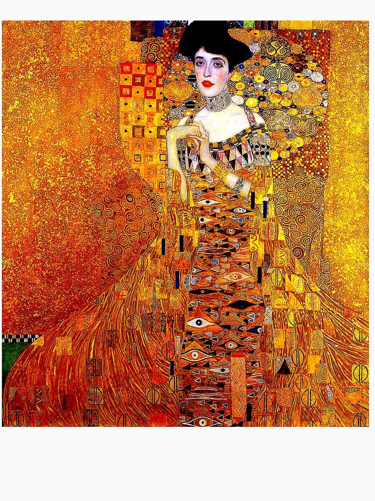 DAME IN GOLD: Gustav Klimt - Hochauflösender Druck von 1912 von posterbobs