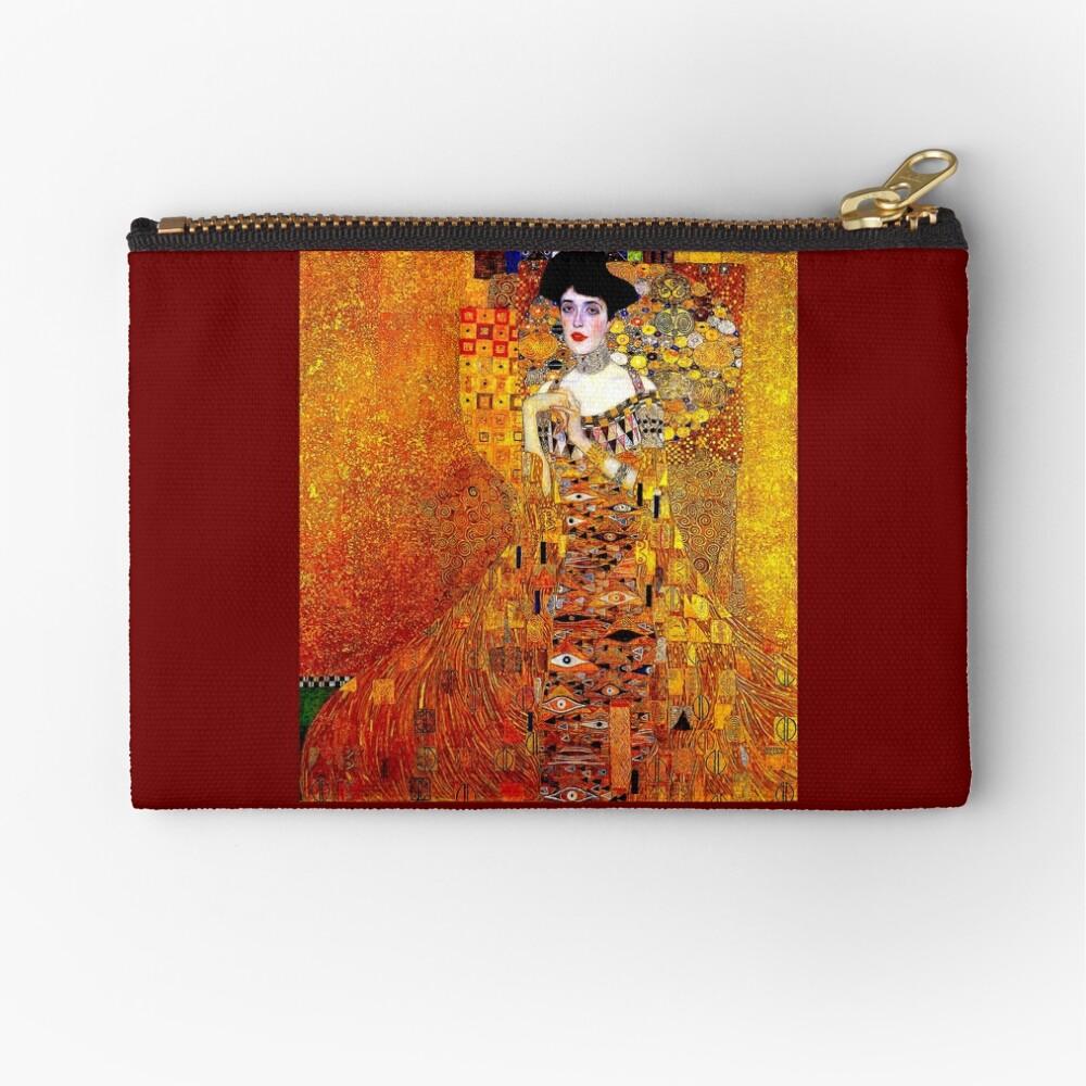 DAME IN GOLD: Gustav Klimt - Hochauflösender Druck von 1912 Täschchen