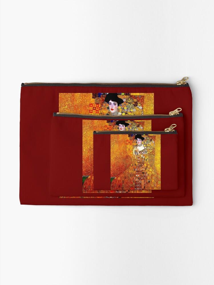 Alternative Ansicht von DAME IN GOLD: Gustav Klimt - Hochauflösender Druck von 1912 Täschchen