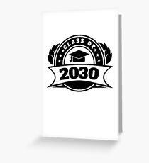 Class of 2030 Star Year High School Graduate Education Kindergarten to Graduation Grow With Me Greeting Card