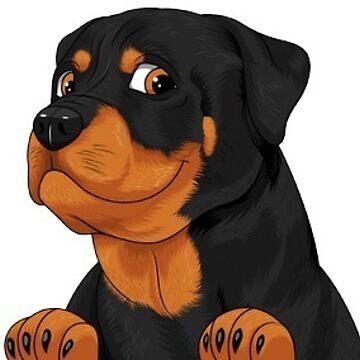 Rottweiler Dog Sticker by minou24