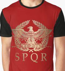 Camiseta gráfica SPQR- Escudo Estándar del Imperio Romano