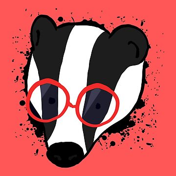Hipster Badger by amedeea
