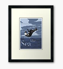 Between the devil and the deep blue sea Framed Print