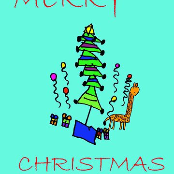 Christmas Giraffe (Issy age 5) by jeciaissy