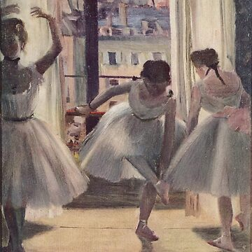 Original Edgar Degas French Impressionism Oil Painting Restored Hilaire Degas 024 ballet dancers by jnniepce