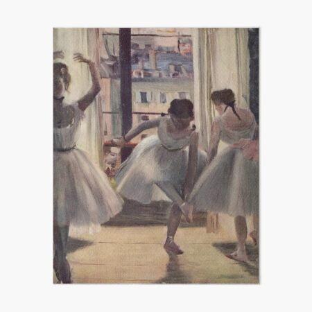 Edgar Degas French Impressionism Oil Painting Ballerinas Rehearsing Dancing Art Board Print