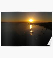 Waterscape: View of Hobart harbour, Tasmania Poster