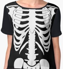 Human Skeleton Funny T- shirt Chiffon Top