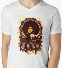 Camiseta de cuello en V Disco diva
