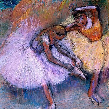 Original Edgar Degas French Impressionism Oil Painting Restored  two dancers by jnniepce
