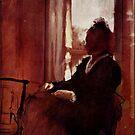 Edgar Degas French Impressionism Oil Painting Woman Sitting Near Window by jnniepce