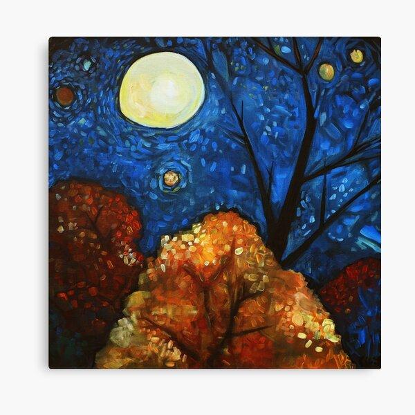 Blue Fall Moon Canvas Print