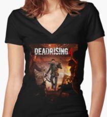 dead rising 4 Women's Fitted V-Neck T-Shirt