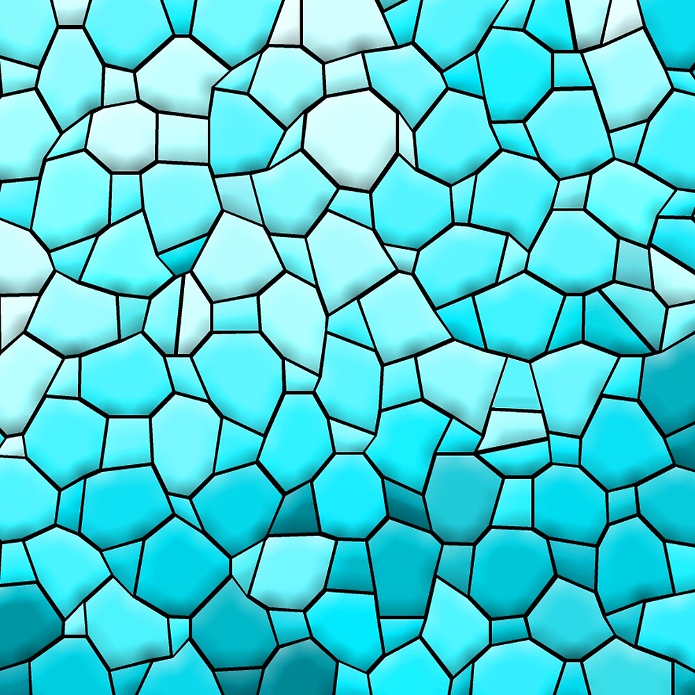 Light Blue Abstract Mosaic by MarkAntum