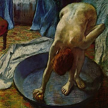 Original Edgar Degas French Impressionism Oil Painting Restored Woman Bathing by jnniepce