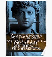 Marcus Aurelius Zitat Poster