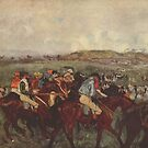 Original Edgar Degas French Impressionism Oil Painting Restored Hunting by jnniepce