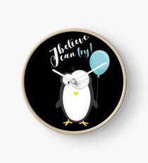 Penguin white Clock