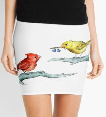 Act of Kindness - Cardinals, Inspirational Quotes, Animal Lovers Mini Skirt