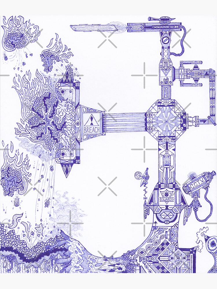 Merch #13 -- The Molten-Mechanical Clash. by Naean